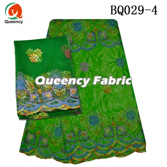 African Bazin Brocade Stones Embroidery With Blouse
