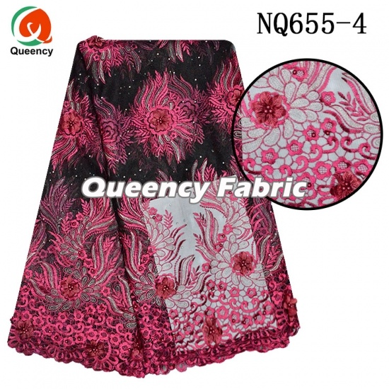 African Heavy Embroidery Net Fabric Tulle Lace